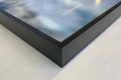 Black Aluminum Float Frame