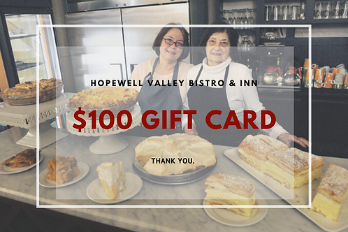Gift Card- Hopewell Valley Bistro & Inn
