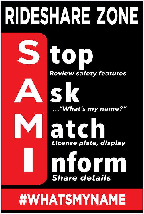 """Stand-Alone SAMI A-Frame Banner (24""""x 36"""")"""