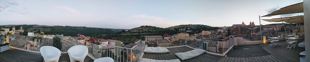 sicily south | travel sicily, panoramic view from rooftop terrace at Terrazza dei Sogni, Ragusa Ibla