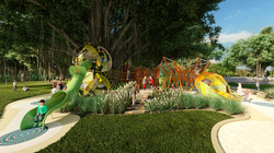 green ant nature play concept