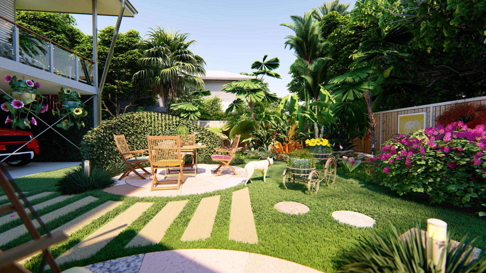 tropical garden concept