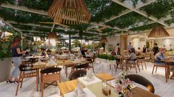 tropical restaurant concept