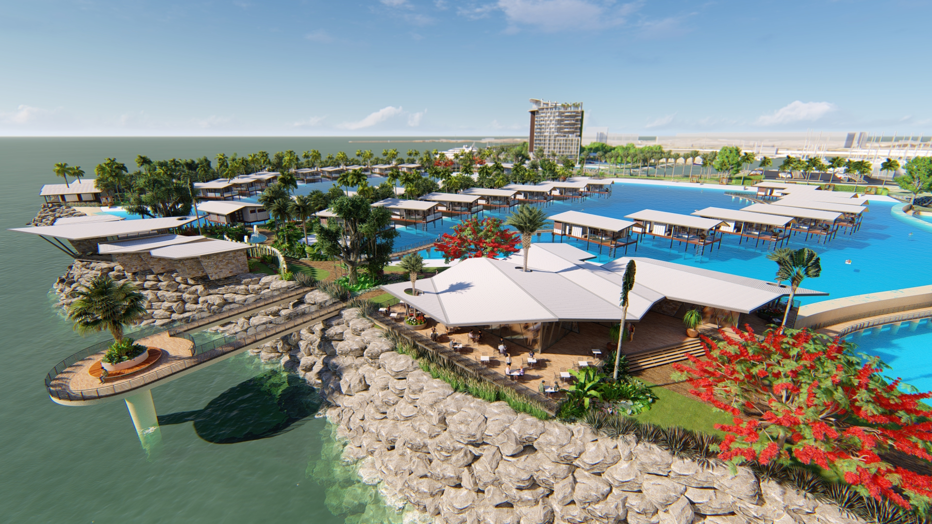 6-star lagoon resort concept