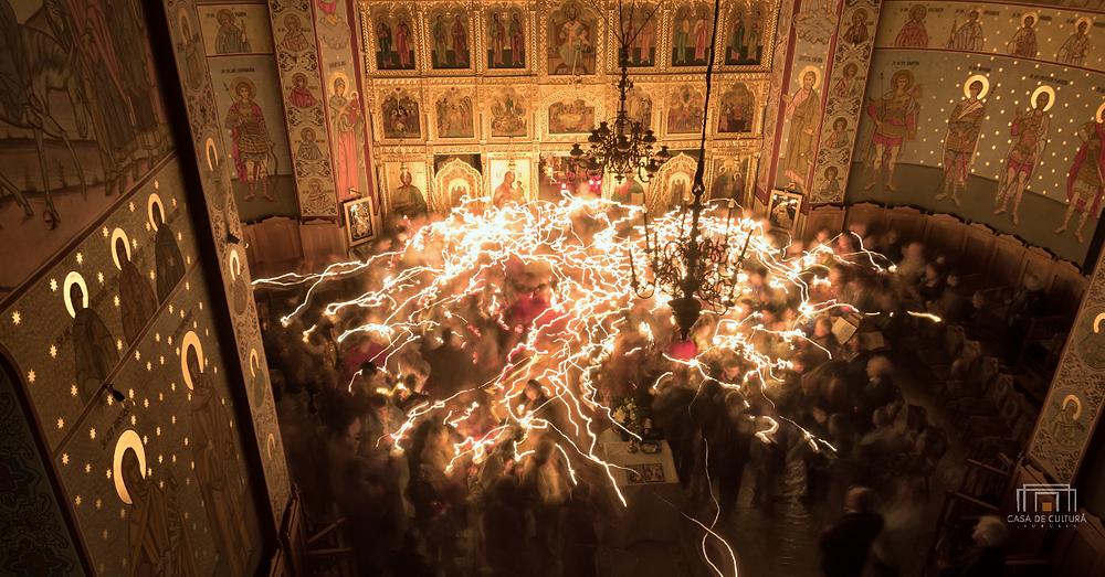"""Învierea, Biserica Ortodoxă """"Buna Vestire"""", Jimbolia, 2015. Fotografie: Sergiu-Petru Dema"""