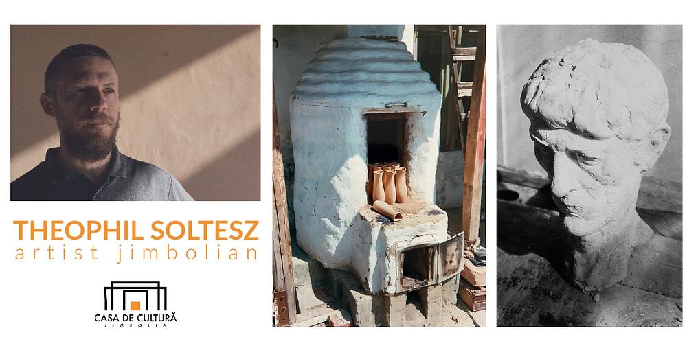 Fotografii: Portretul lui Theophil Soltesz realizat de Sergiu Dema; Cumpotorul și bustul sunt fotografii din colecția personală a lui Theophil Soltesz.