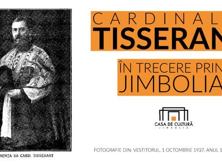Cardinalul Tisserant în gara din Jimbolia