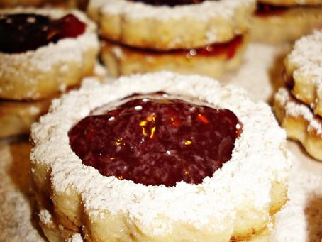 Linzer Augen sau Biscuiți Linzer cu nucă