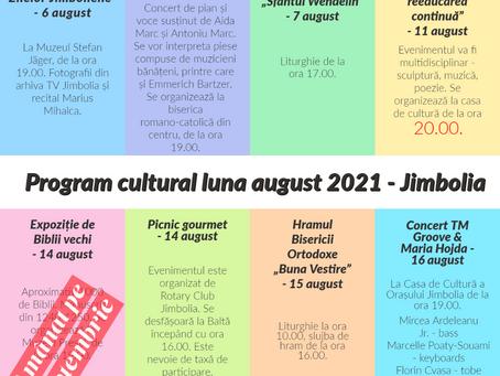 Programul cultural al lunii august 2021, la Jimbolia