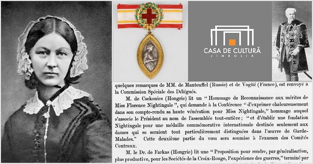 Florence Nightingale, Endre Csekonics, Medalia Nightingale, Casa de Cultură a Orașului Jimbolia