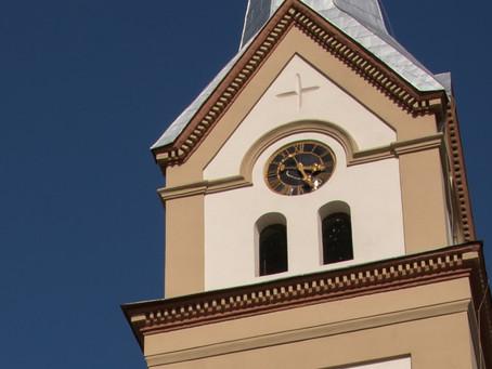 """Ceasul din turnul Bisericii """"Sfântul Wendelin"""" din Jimbolia"""