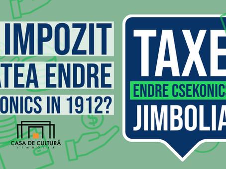 Csekonics și impozitul pe anul 1912