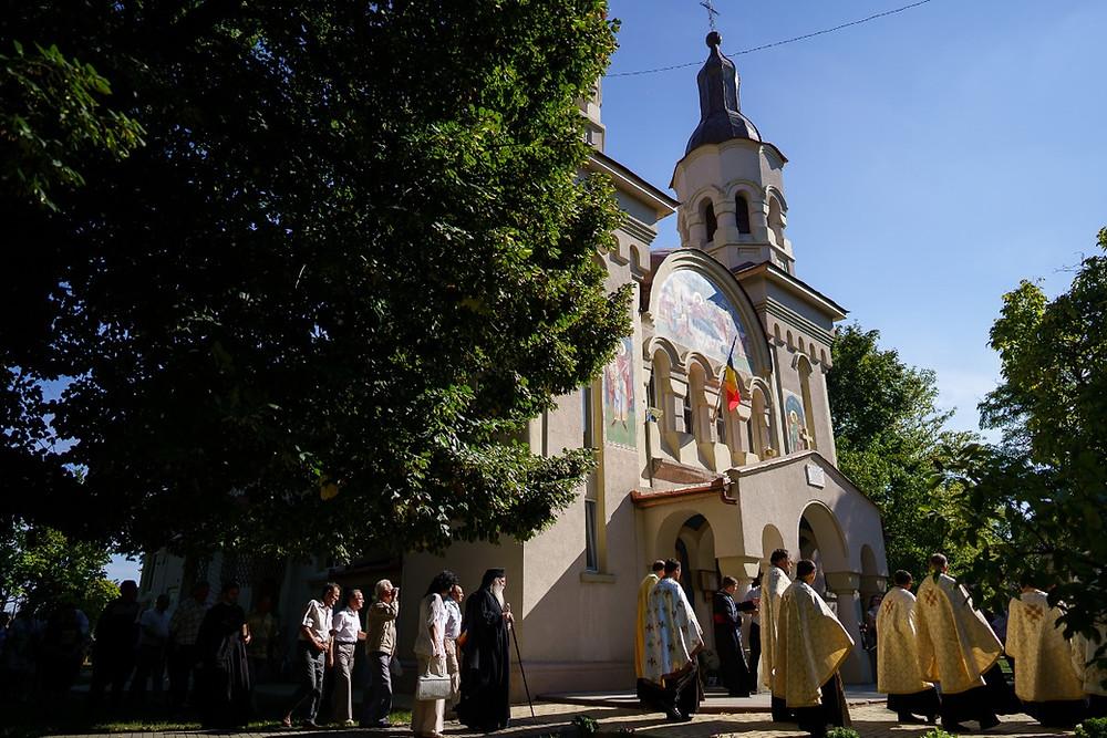 Moment al Hramului Bisericii Ortodoxe Române din Periam