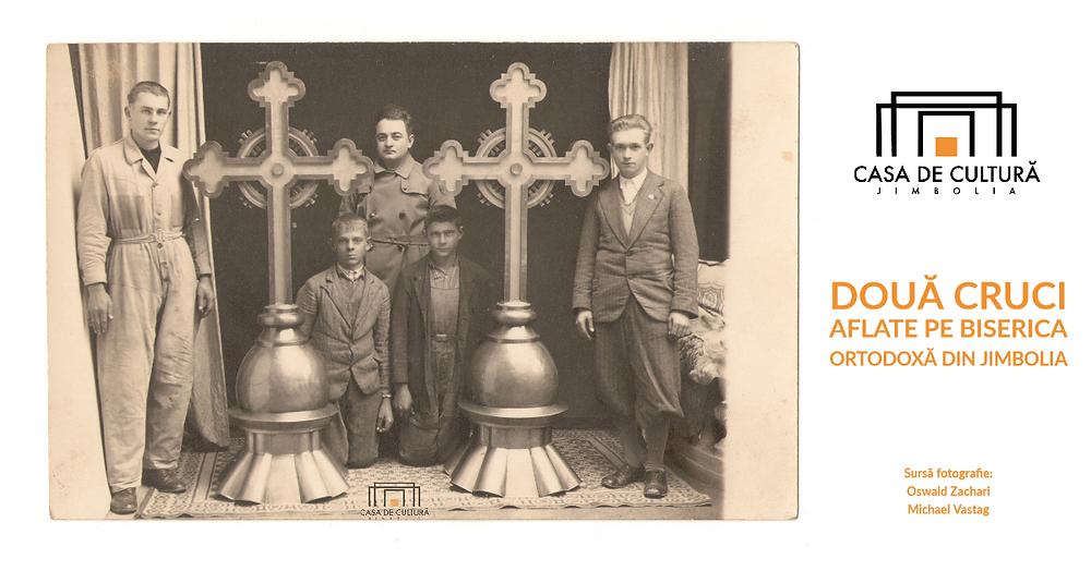 """Două cruci aflate pe Biserica Ortodoxă """"Bunavestire"""" din Jimbolia"""