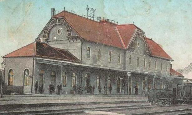 Stația de cale ferată din Jimbolia. Sursă: www.hatzfeld-banat.de
