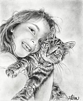 La fillette et son chat