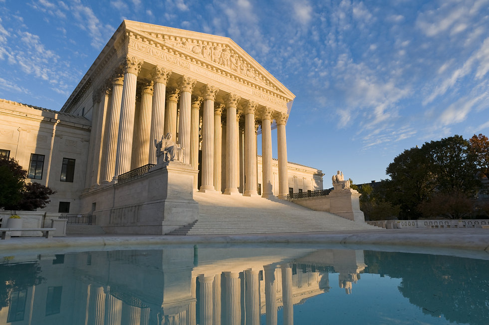 The front of the US Supreme Court in Was