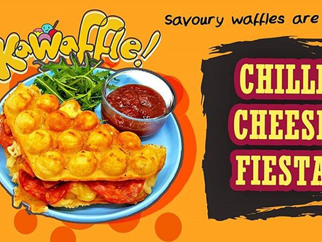 Savoury Bubble Waffles have Landed