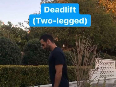 🔷 Deadlift (Two-legged) 🔷