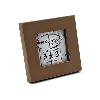 """3x3 1"""" Gallery Picture Frame - Mocha"""