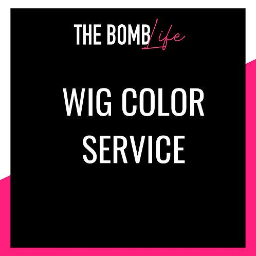 Wig Color Service