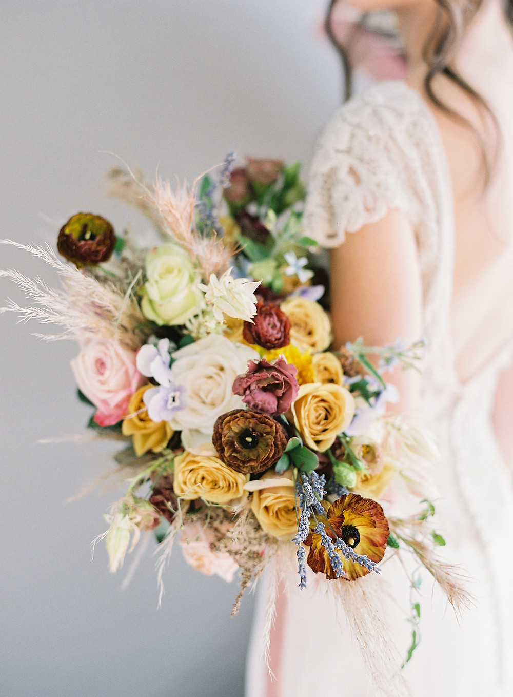 Modern, Bohemian Wedding Bridal Bouquet - Floral Inspiration