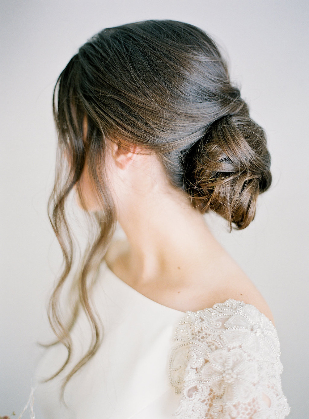 Modern, Boho Simple Wedding Bridal Hairstyle - Updo