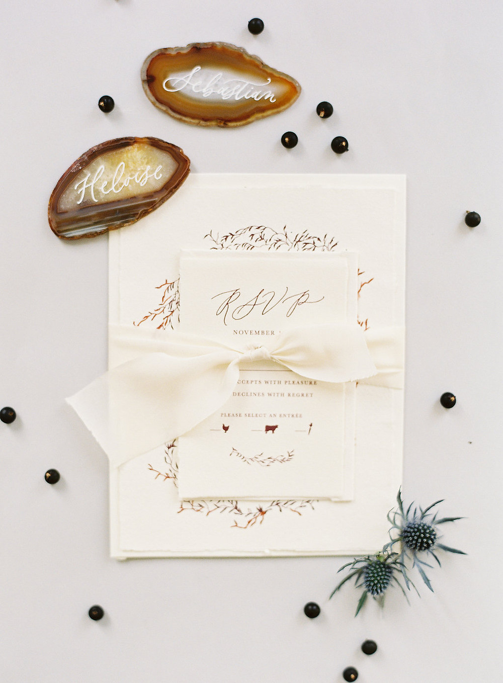 Modern, Bohemian Calligraphy - Wedding Invitation Set