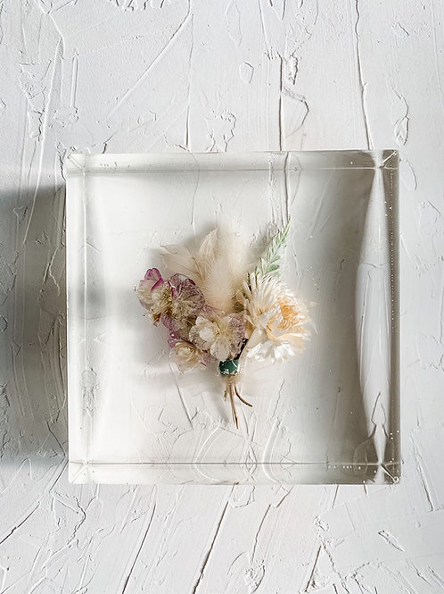 """6"""" Square Boutonniere Flower Preservation"""