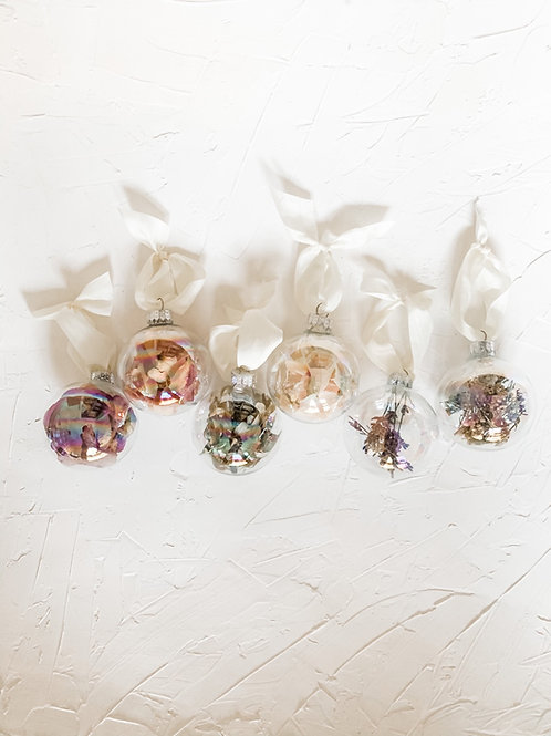 Iridescent Glass Ornament