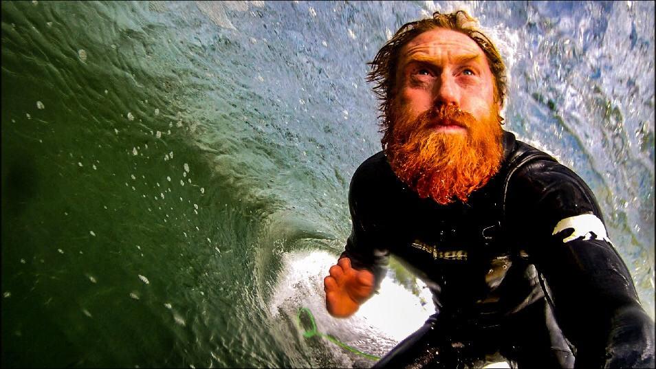 Al Mennie surfer, surfing ireland, portabllintrae, surfing northern ireland, irish surfer, irish man with beard
