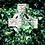 Thumbnail: Eadach Banshee Storm Print Silk Oversized Scarf by Sara O'Neill