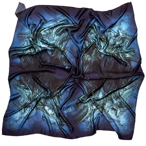 Eadach Banshee Storm Print Silk Oversized Scarf by Sara O'Neill