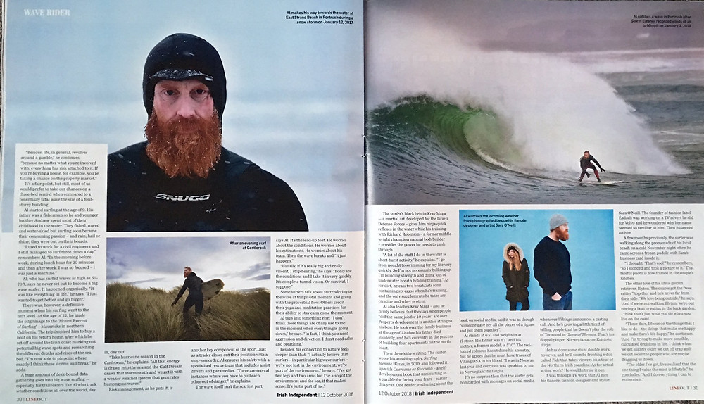 Al Mennie, irish surfer, irish independent, charles mcquillan photographer
