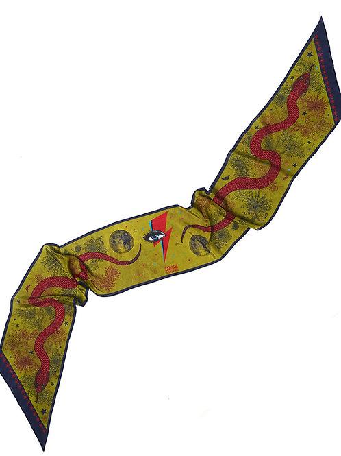 Morrigan Serpent Skinny Scarf Crepe de Chine £95