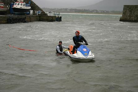 Al Mennie, Big Wave Surfer, Mullaghmore Head, image by Kelly Allen