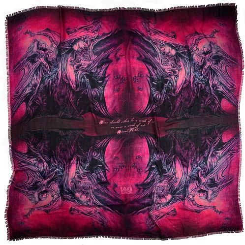 Banshee Dark Rose Merino Wool Scarf