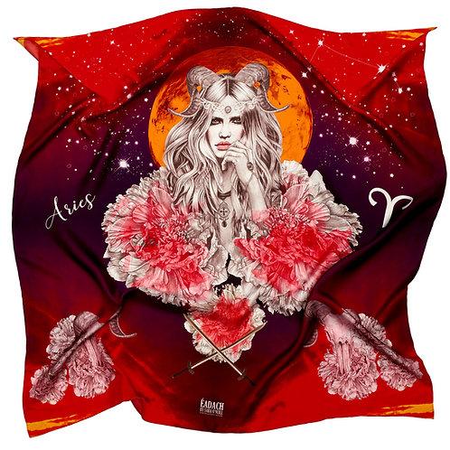 Eadach Zodiac Series Aries Silk Scarf by Sara O'Neill