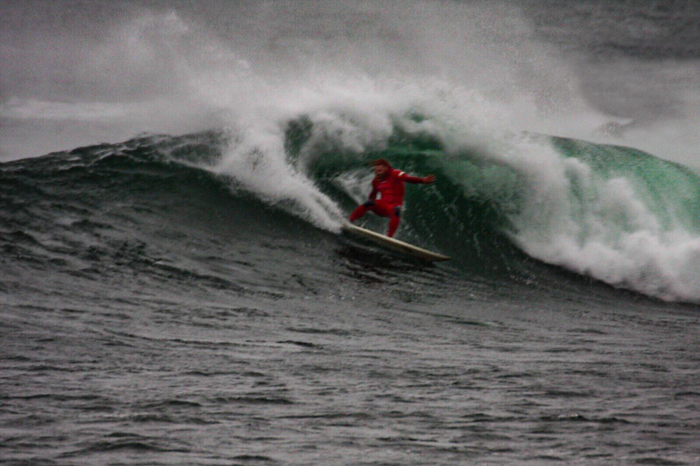 Al Mennie Surfing in Ireland