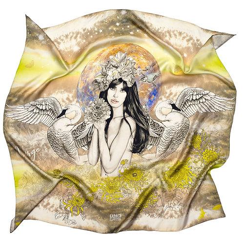 Eadach Zodiac Series Virgo Silk Scarf by Sara O'Neill