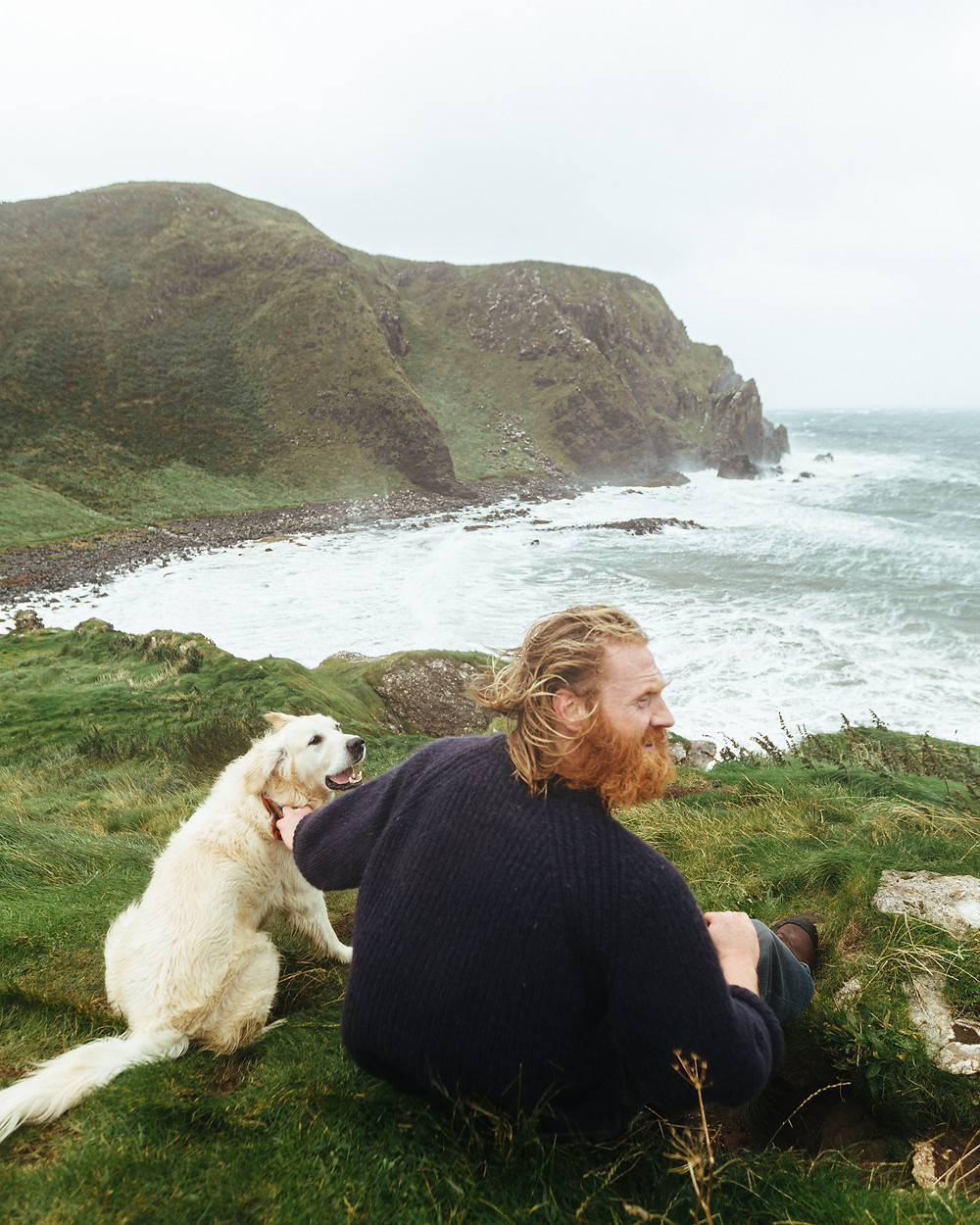 Al Mennie, surfer, ireland, kinbane head, irish, irish man, beard