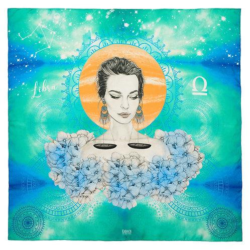 Eadach Zodiac Series Libra Silk Scarf by Sara O'Neill