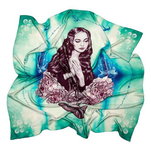 Eadach Maeve Roe Print Silk Oversized Scarf by Sara O'Neill