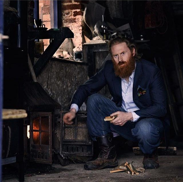Al Mennie, irish man, irish model, man with red beard, photographer caroline goransson, eadach