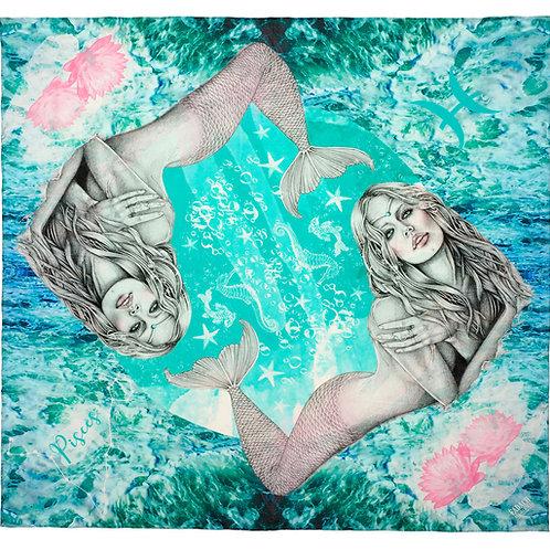 Eadach Zodiac Series Pisces Silk Scarf by Sara O'Neill
