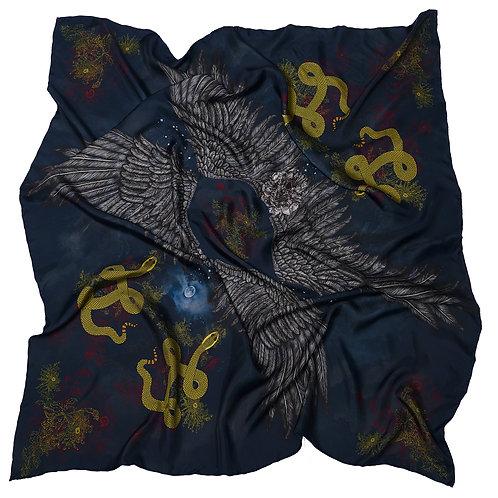 Morrigan Oversized Silk Scarf: Silk Twill
