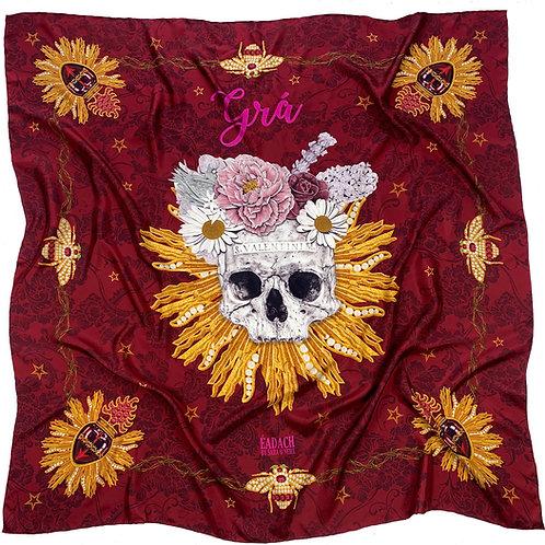Valentine Silk Twill Scarf, 130cm