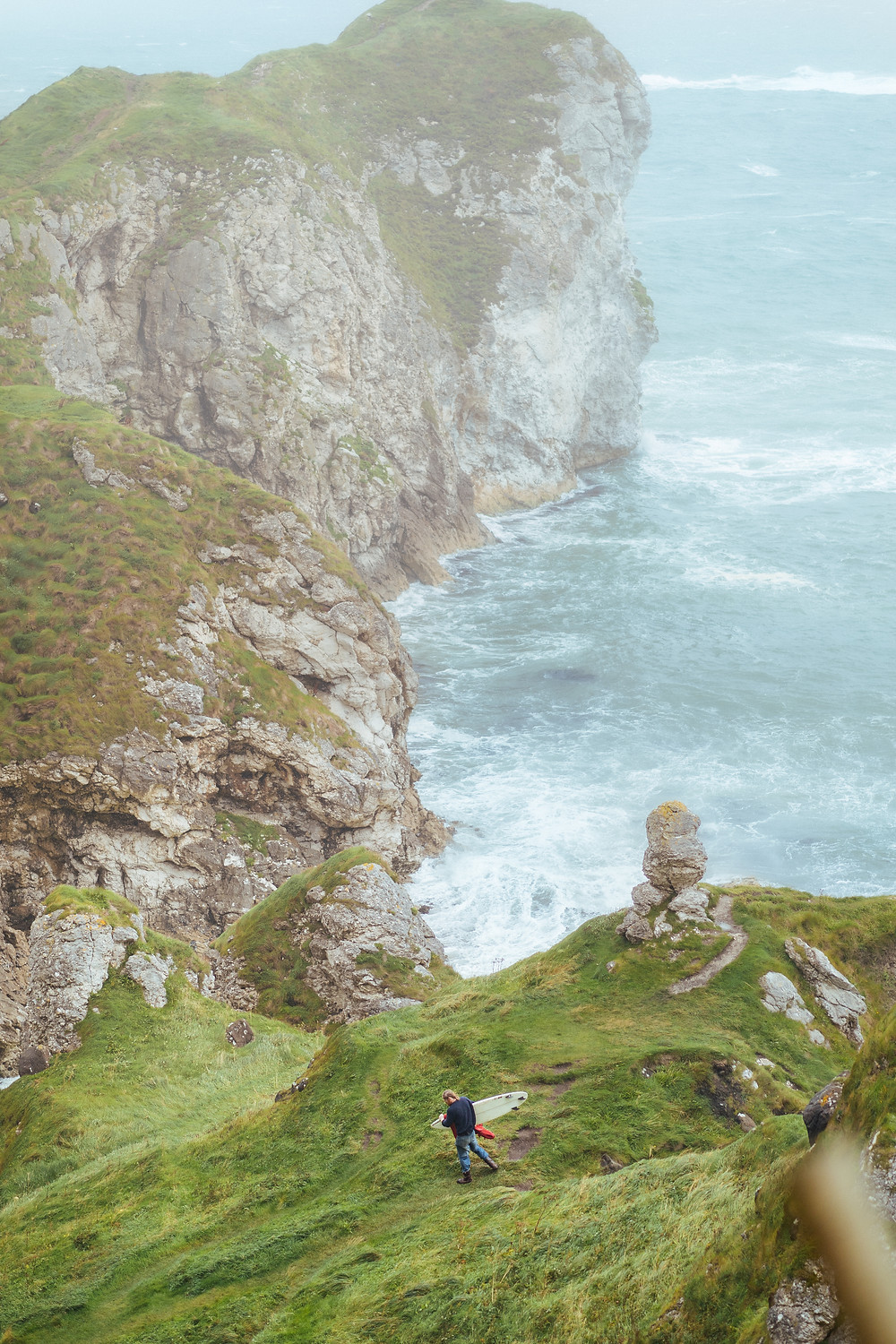 Al Mennie, Surfing, kinbane head, ireland, ben ono