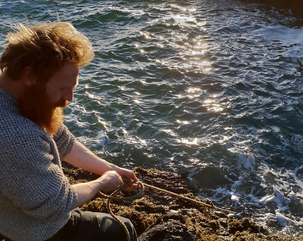 Al Mennie, lobster fishing, irish man, man with red beard