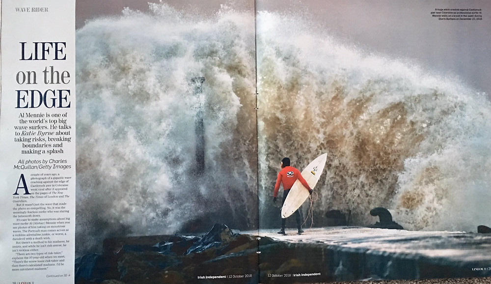 Al Mennie, castlerock, castlerock surfing, surfing ireland, surfing northern ireland, charles mcquillan photographer, irish independent